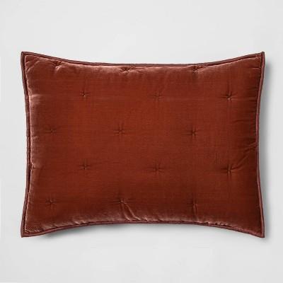 Standard Velvet Tufted Stitch Sham Bronze - Opalhouse™