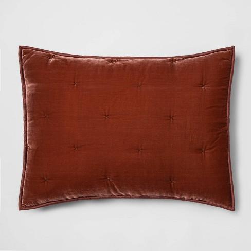 Standard Velvet Tufted Stitch Sham Bronze - Opalhouse™ - image 1 of 3
