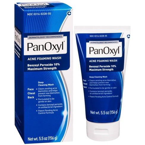 Panoxyl Acne Foaming Wash With 10 Benzoyl Peroxide 5 5oz Target