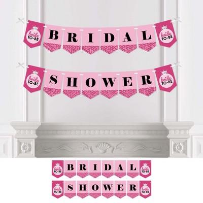Big Dot of Happiness Bride-To-Be - Bridal Shower Bunting Banner - Pink Bridal Shower Decorations - Bridal Shower