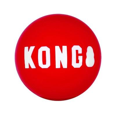 KONG Signature Balls Dog Toy - 2pk - M