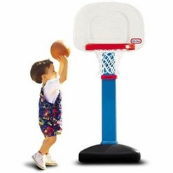 Little Tikes TotSports Easy Score Adjustable Basketball Set with Round Backboard