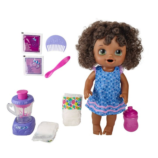 Baby Alive Magical Mixer Baby Doll - Blueberry Blast image number null