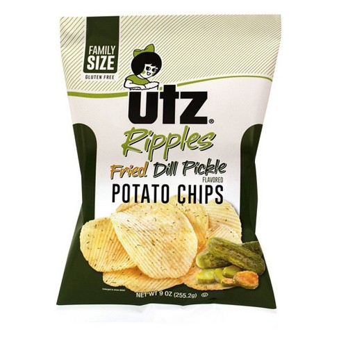 Utz Fried Dill Pickle Ripple Potato Chips- 9oz - image 1 of 1