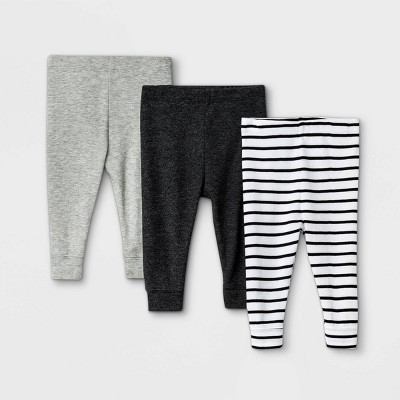 Baby 3pk Pull-On Pants - Cloud Island™ Black/Gray 0-3M