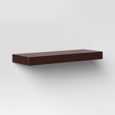 """23"""" x 8"""" Floating Wall Shelf Espresso - Threshold™"""