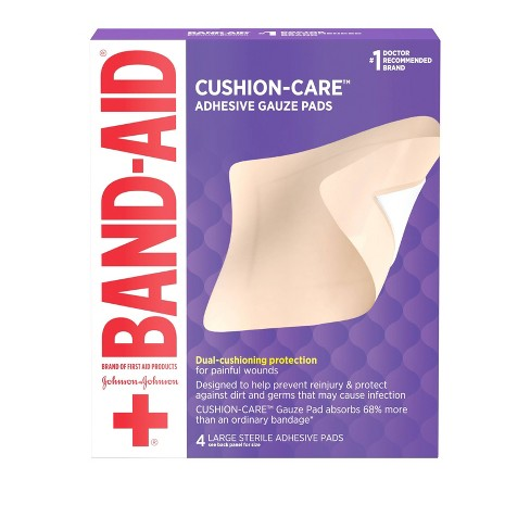 Band-Aid Brand First Aid Adhesive Gauze Pad - 4.5in x 5.5in - 4ct - image 1 of 4