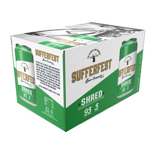 Sufferfest Shred Low-Calorie Kolsch-Style Beer - 6pk/12 fl oz Cans - image 1 of 2