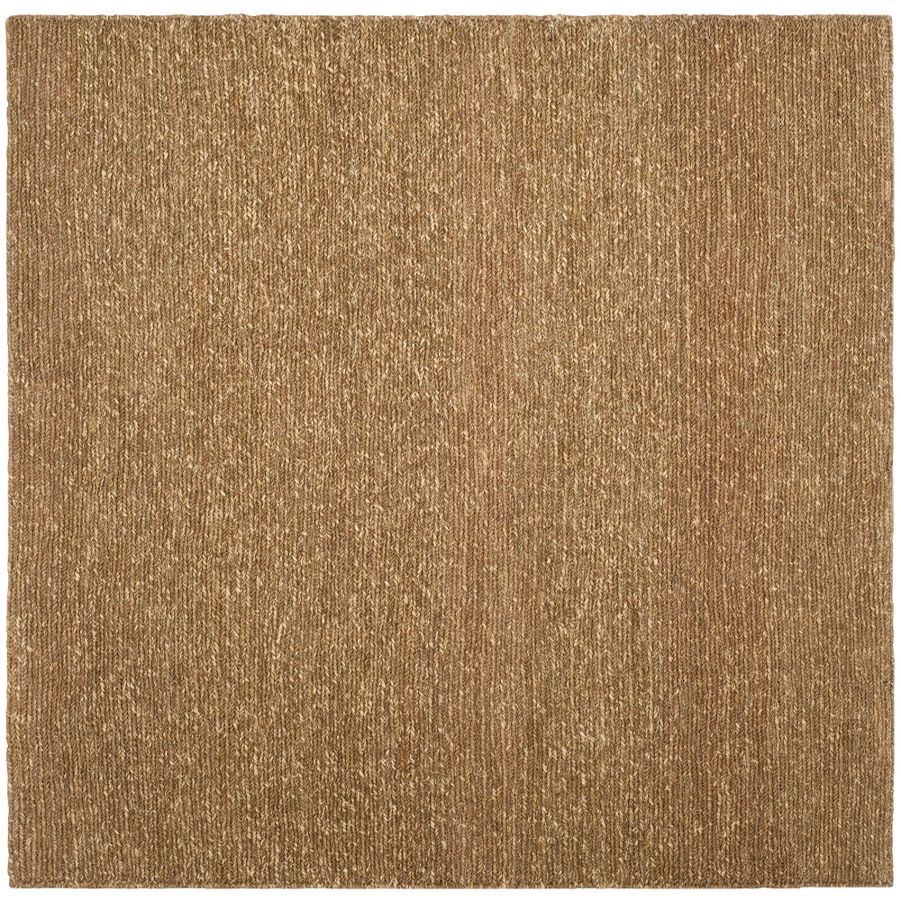 6'X6' Woven Solid Square Area Rug Natural - Safavieh, White