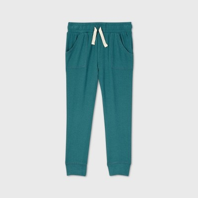 Toddler Girls' Cozy Jogger Pants - Cat & Jack™ Teal 12M