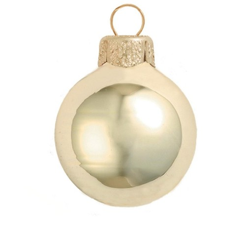 """Northlight 2ct Shiny Glass Ball Christmas Ornament Set 6"""" - Champagne Gold - image 1 of 1"""