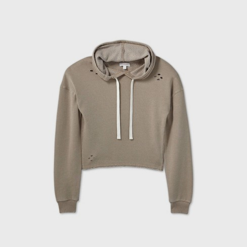 Women's Fleece Hooded Lounge Sweatshirt - Colsie™ - image 1 of 2