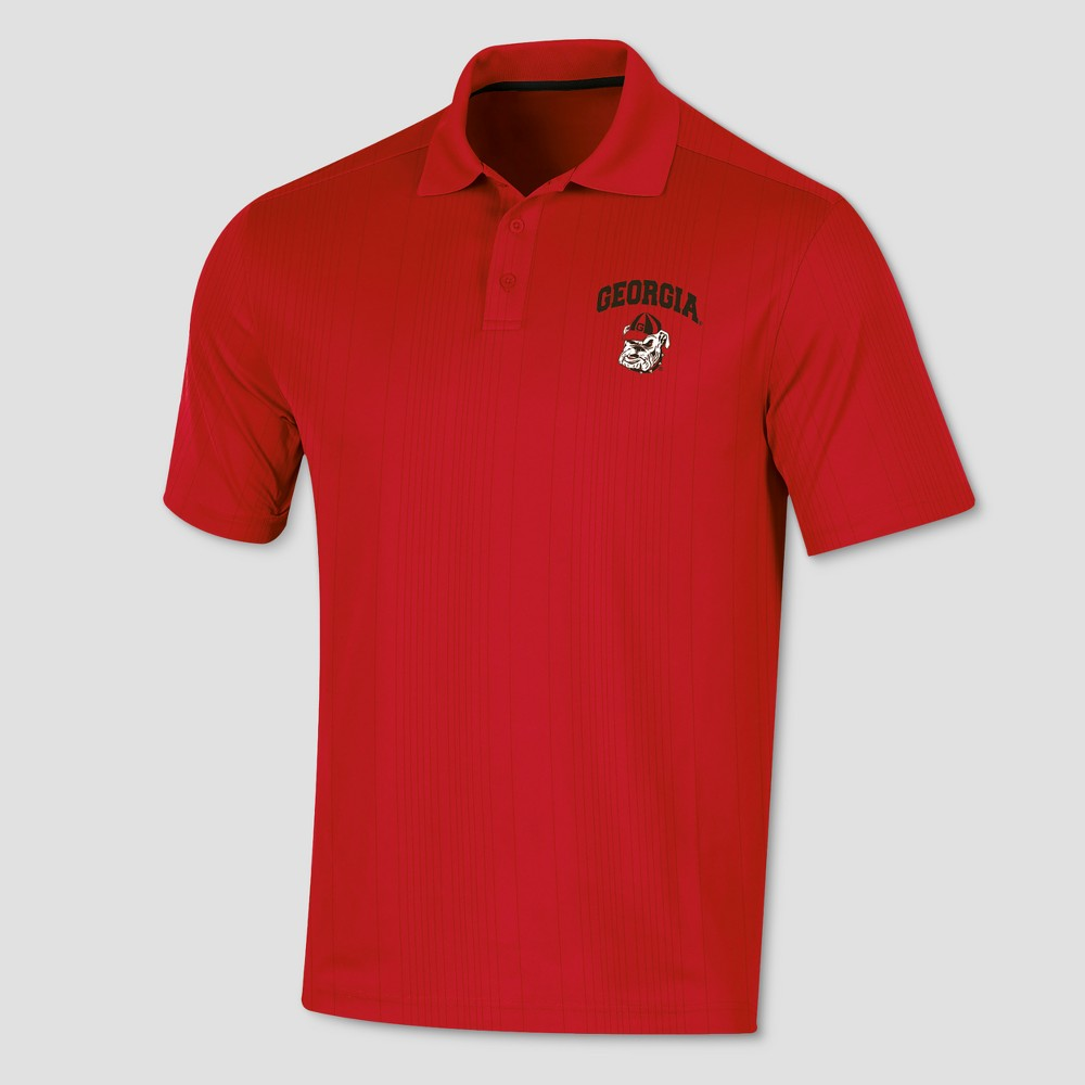 Georgia Bulldogs Men's Short Sleeve Game Day Polo Shirt L, Multicolored