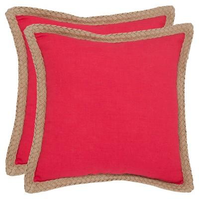 2pk Square Throw Pillow - Safavieh