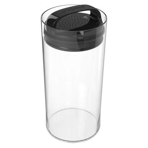 Food Storage Canister Short 2.4qt Black - Prepara - image 1 of 1