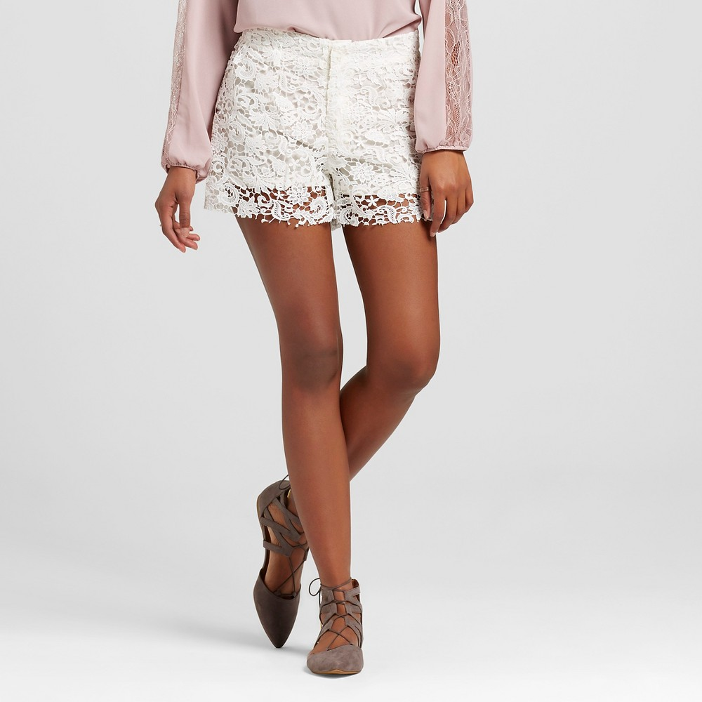 Women's Lace Shorts White 25 - S&p by Standards and Practices