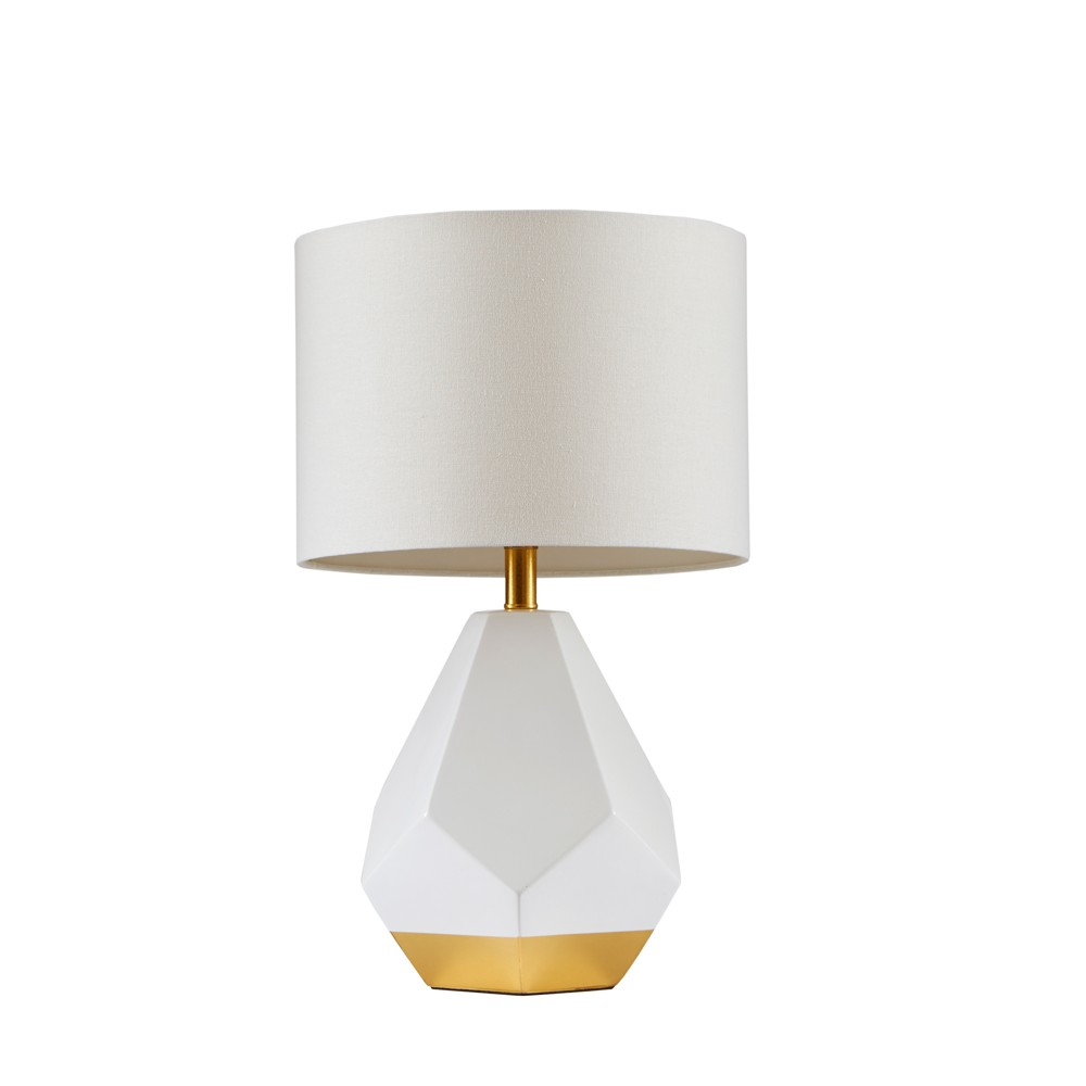 Facet Table Lamp White/Gold 14