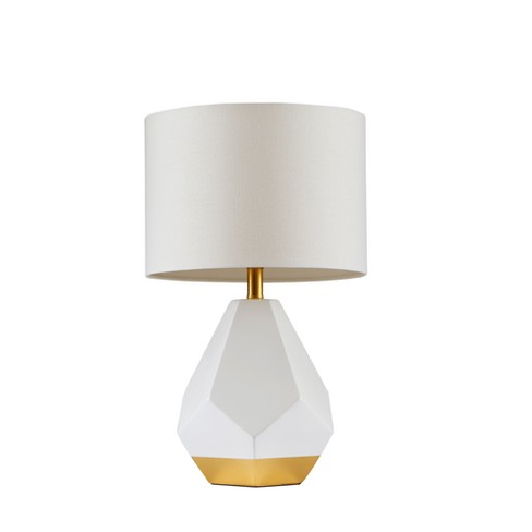 Facet Table Lamp White Gold 14 X