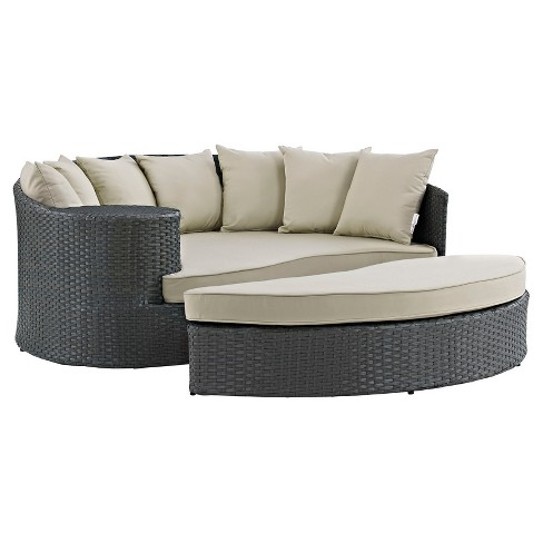 Sojourn Outdoor Patio Sunbrella® Daybed - Modway - image 1 of 4
