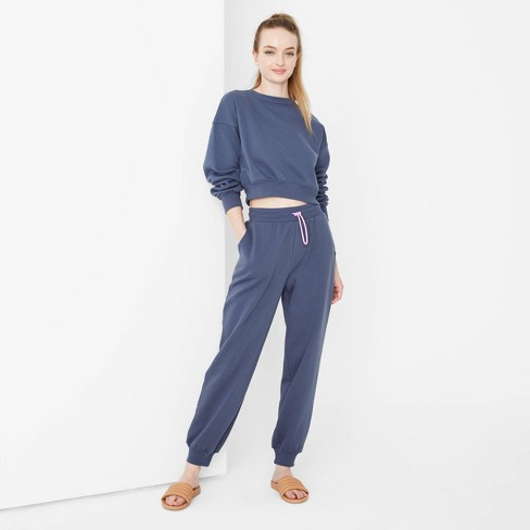 Women's High-Rise Jogger Sweatpants - Wild Fable™ - image 1 of 3