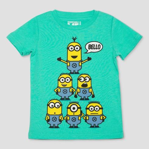 Toddler Boys Minions Short Sleeve T Shirt Aqua Target