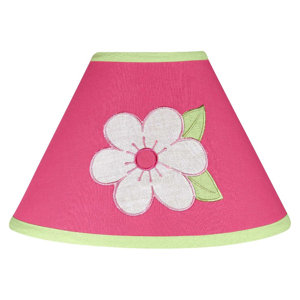 Image of Sweet Jojo Designs Pink and Green Flower Lamp Shade
