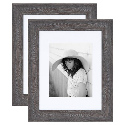 """11"""" x 14"""" Edson Wall Frame Gray - Kate & Laurel All Things Decor"""