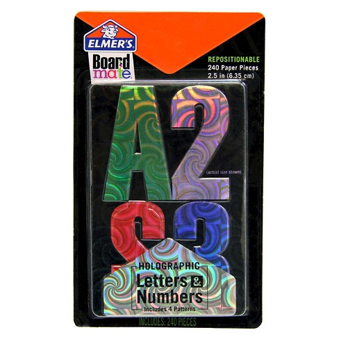Elmers Boardmate Accessory Letters and Numbers Holographic - image 1 of 1