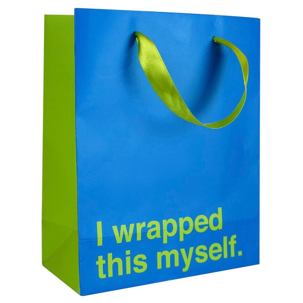 I Wrapped This Myself Gift Bag, Multi-Colored