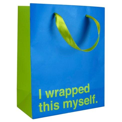 I Wrapped This Myself Gift Bag - image 1 of 2