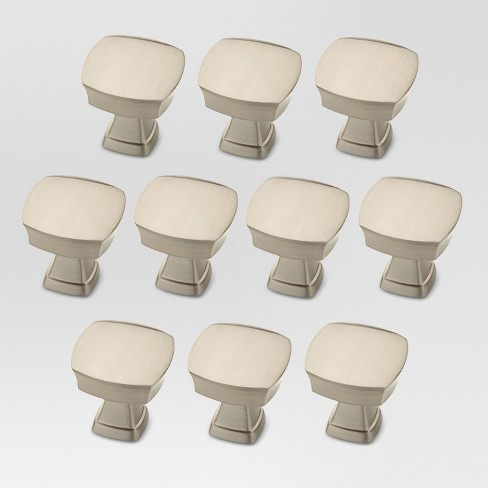 10-pack Column Knob - Satin Nickel - Threshold™ - image 1 of 1