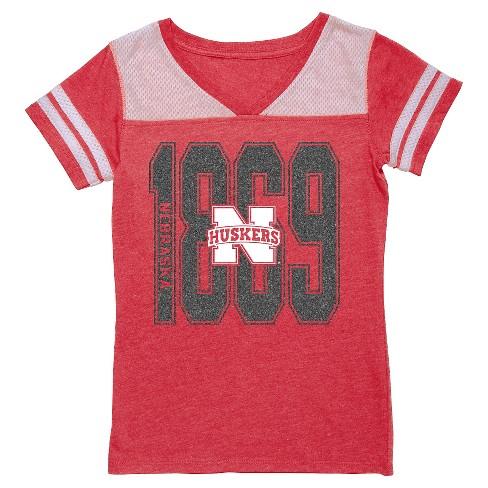 NCAA Nebraska Cornhuskers Girls' V-Neck Tunic Shirt - XL - image 1 of 1