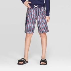 a087c77aed Boys' Textured Plaid Swim Trunks - Cat & Jack™ White : Target