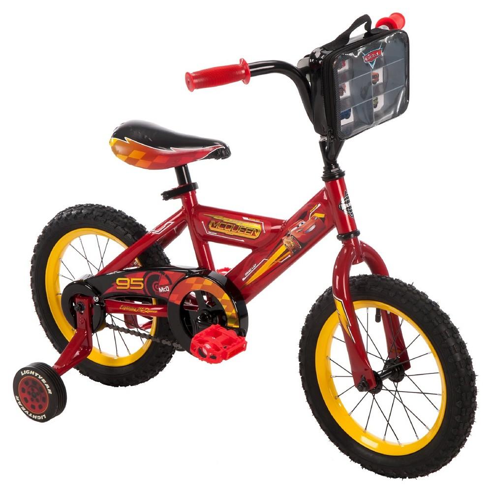 Kids Huffy Disney Cars 3 - 14 Bike - Red