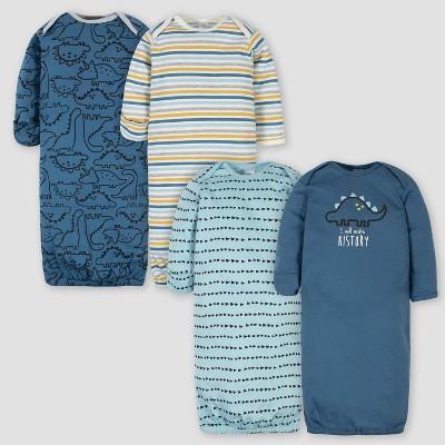 Gerber Baby Boys' 4pk Dino Nightgown - Blue 0-6M