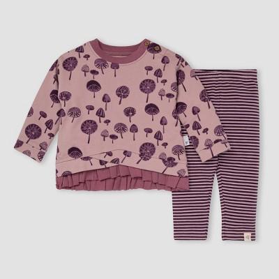 Burt's Bees Baby® Baby Girls' Mushroom Garden French Terry Tunic & Leggings Set - Blush Pink