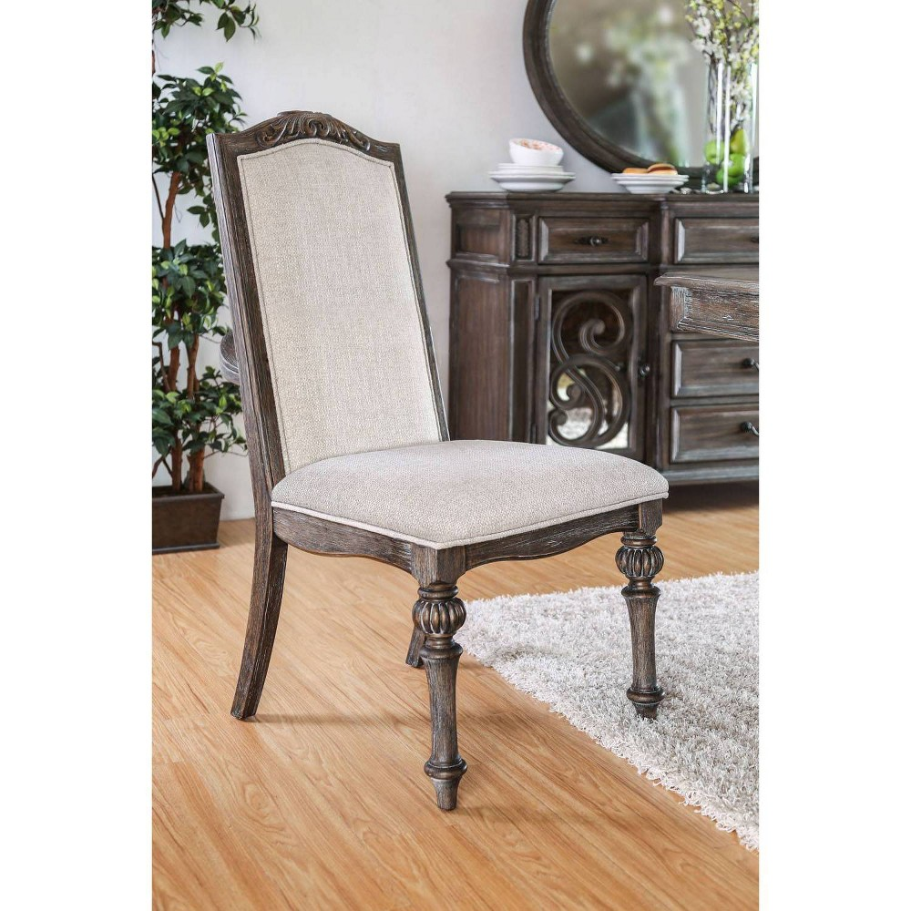 Set of 2 Darja Cushioned Wood Dining Chair Brown - Homes: Inside +Out