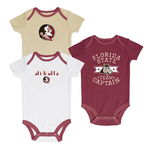 Florida State Seminoles Newest Fan 3pk Bodysuit Set - image 1 of 4