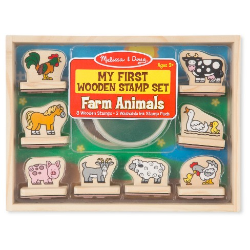 Melissa & Doug® My First Wooden Stamp Set - Farm Animals - image 1 of 3