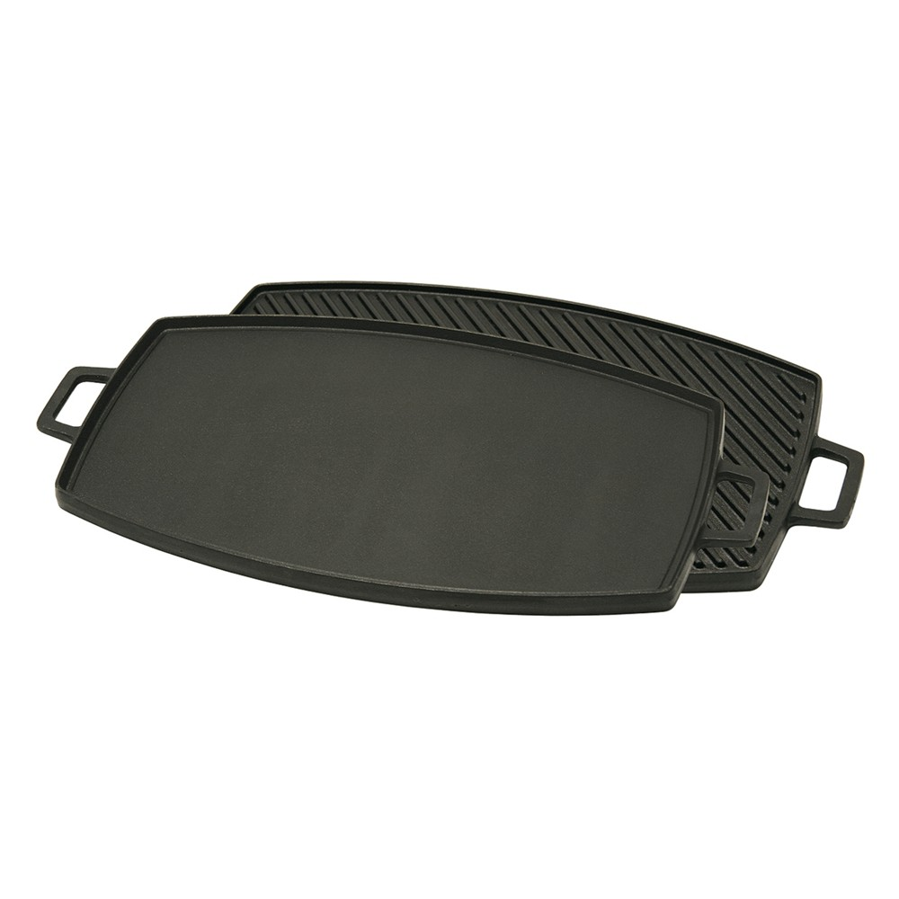 Image of Bayou Classic Cast Iron 18in Reversible Griddle, Black