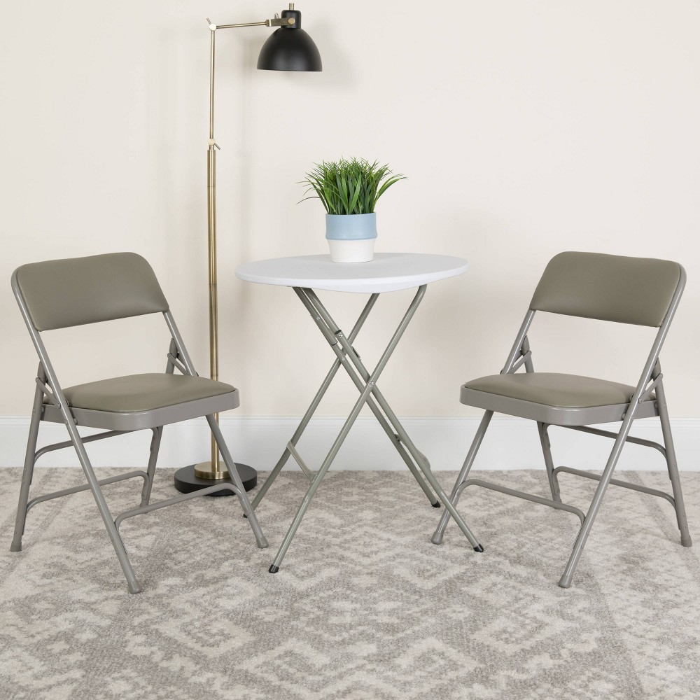 Riverstone Furniture Collection Vinyl Folding Chair
