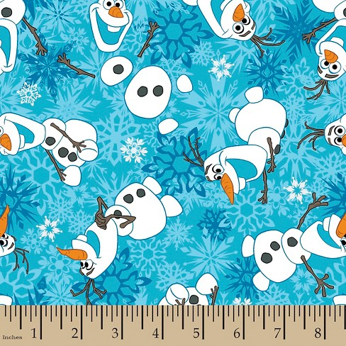Frozen Olaf Snowflakes Flannel Fabric - image 1 of 1