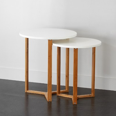 Project 101 Wooden Nesting Tables White