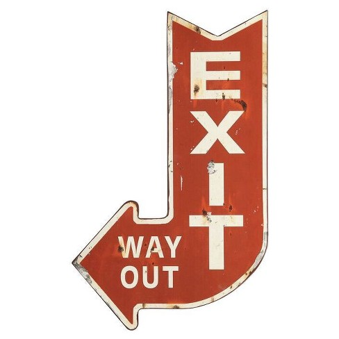 "Metal Exit Sign (14""x22"") - 3R Studios - image 1 of 3"