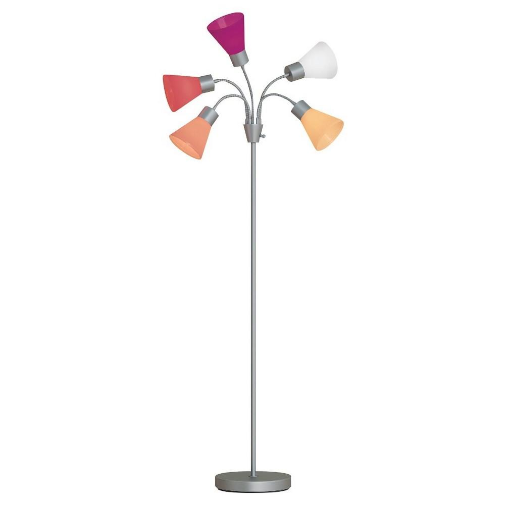 5-Head Floor Lamp Pink Includes Energy Efficient Light Bulb - Room Essentials