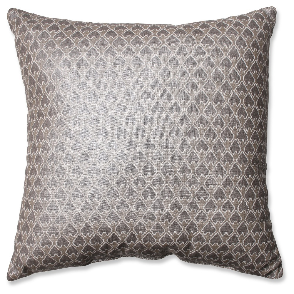 Pillow Perfect Diego Champagne Throw Pillow - Gray (16.5)