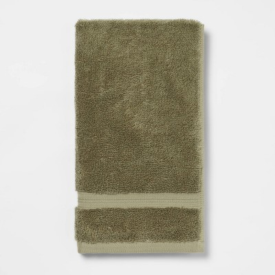 Antimicrobial Hand Towel Olive Green - Total Fresh