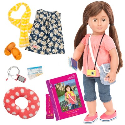 """Our Generation 18"""" Posable Travel Doll with Storybook - Reese"""