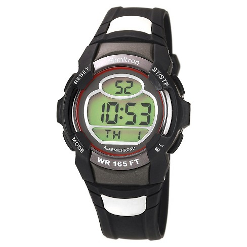Men's Armitron Digital and Chronograph Sport Resin Strap Watch - Black - image 1 of 1