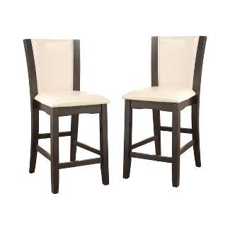 Set of 2 Wright II Counter Height Chair Dark Gray - ioHOMES